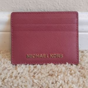 Michael Kors Pebbled Leather Card Case